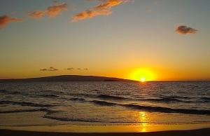 Sunset at Makena Beach I