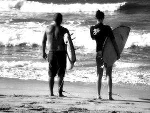 Surfers B & W