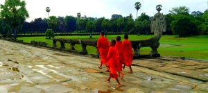 Twenty First Century Nomad & Chic Adventurer Angkor Wat Buddhist monks