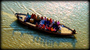 real pilgrims on boat