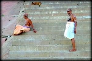 real pilgrims on steps