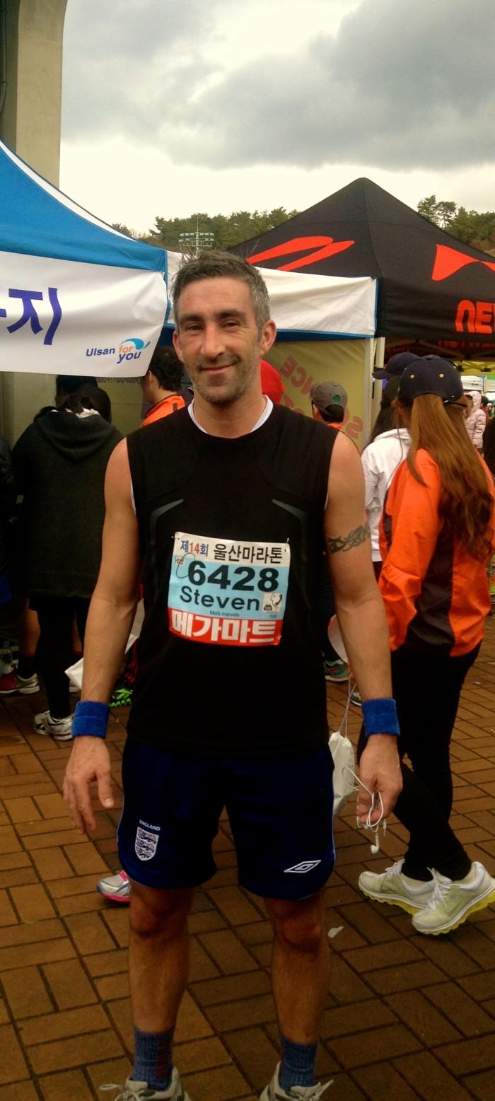 Post half marathon, 2013